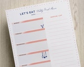 Meal Planner Printable Weekly With Shopping List, A5 / A4, DIY Menu Planning Organizer, Downloadable Household Printables