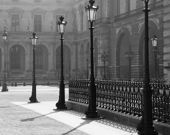 Paris black and white photography, Paris lamp posts, Paris photography, Paris print, black and white photography, wall art, Paris decor
