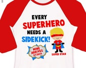Big brother superhero or big brother to be every superhero needs a sidekick pregnancy announcement raglan shirt