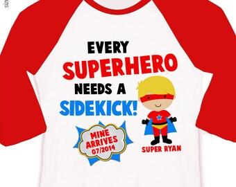 Big brother superhero or big brother to be every superhero needs a sidekick pregnancy announcement raglan shirt
