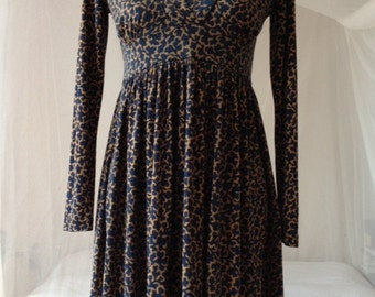 wool silk dress french connection with seaweed print multifunctional and cute