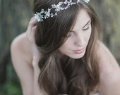 Wedding Headpiece ,Bridal Hair Accessories Bridal Halo,  Wedding Hair Accessories , Crystal Pearl Wedding headband