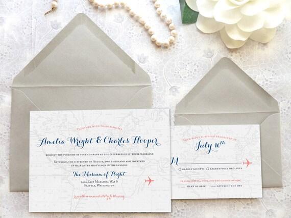 World Traveler Map Destination Wedding Invitations by merrymint – World Traveler Map Set