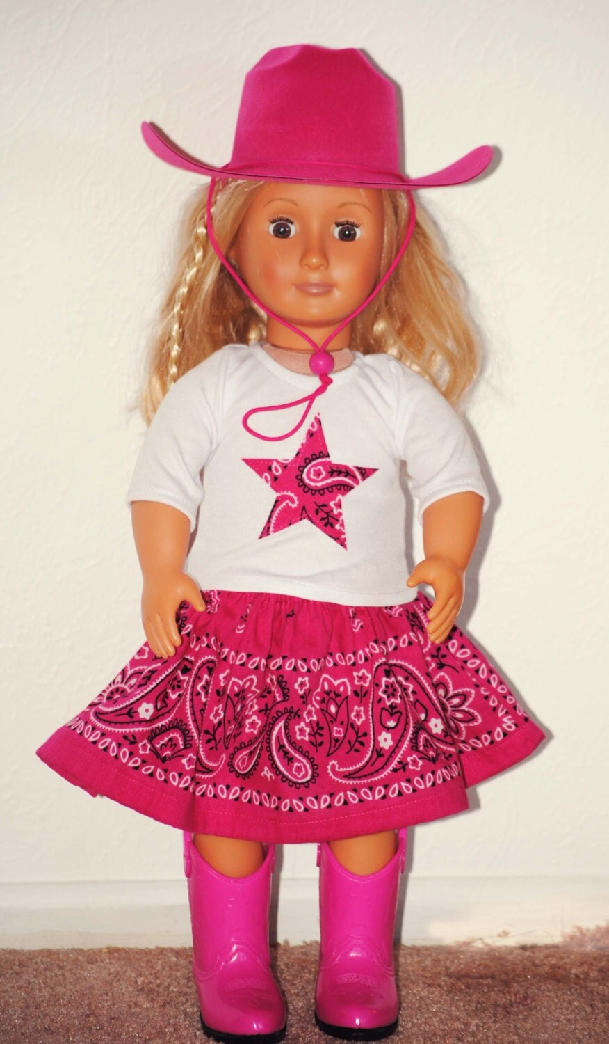 American Girl Doll 18 Inch Cowgirl Outfit 5 Piece Includes