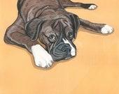 Dog Portrait from your photo- 8x8 inch Painted Portrait - Custom Dog Art - Commission - Pet memorial Gift Idea - Pet Portraits