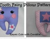 Tooth Fairy Pillow, Girls/Boys handmade tooth fairy pillow PATTERN