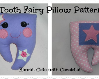 Tooth Fairy Pillow, Girls/Boys handmade tooth fairy pillow PATTERN