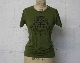 St. Patrick's Day Irish Tee Shirt,  Women's Irish Whiskey Tee Shirt , Irish Green T-Shirt, Ireland