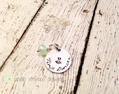 Dance recital gift for dancer tiny dancer tutu stamp design hand stamped necklace