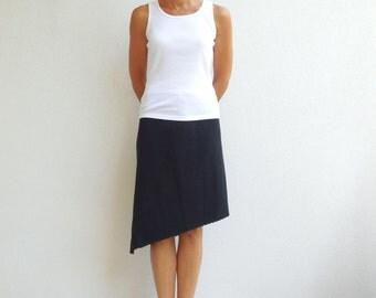 Womens Skirt Women's Black T-Shirt Skirt Recycled Tee Skirt Upcycled Straight Cotton Handmade For Her Soft Fun Fashion Skirt ohzie