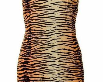 Black and Gold Tiger Shift Dress