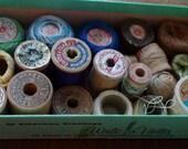 Antique Thread Spools, Instant Collection, 20 Spools -- Treasury Item