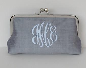 Monogrammed bridesmaid clutch ,wedding clutch, bridesmaid gift, personalized clutch, wedding accessory
