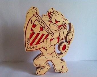 Athletic de bilbao wooden sculpture