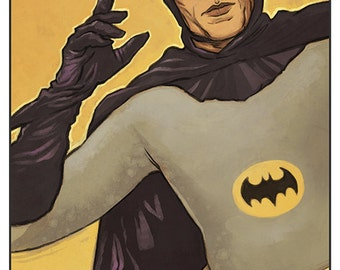 60s Batman (Adam West) - colour art print