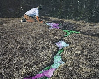 "Collage Print  ""Downstream"""