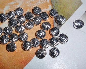 Bead,Silver Spacer Beads Bali Style Silver Pewter Cross Design-30