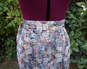 Wrap Skirt 1970s Wrap Skirt Festival Skirt 70s Wrap Skirt Floral Skirt High Waisted Skirt Floral Print Skirt Boho Floral Wrap Skirt Size L