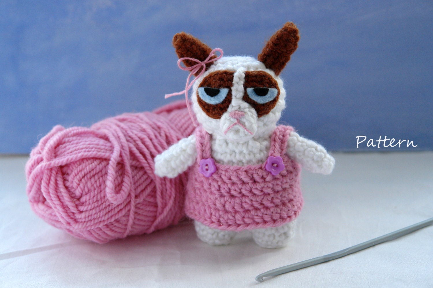 Grumpy Cat Amigurumi Pattern Free : CROCHET PATTERN for Grumpy Cat / amigurumi pattern by ...