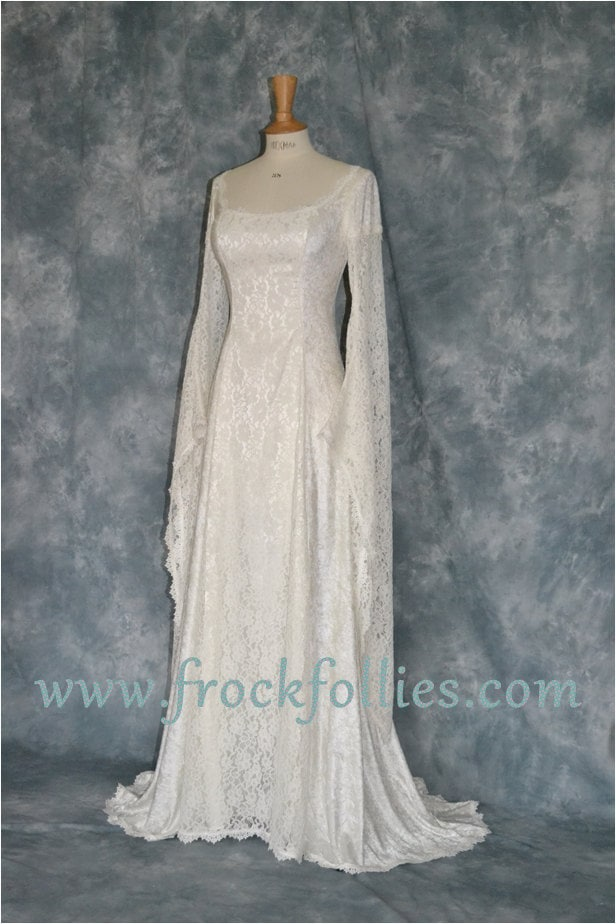 elvish wedding dress medieval hand fasting gown by