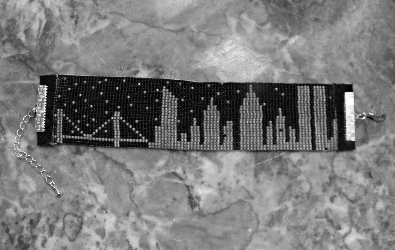 nyc ny skyline towers bead loom friendship bracelet