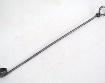 hand forged, wrought iron candle snuffer, 40cm long