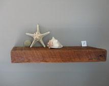 Over 100 YEAR OLD - Rustic Barn wood Shelf - Rustic Ledge Shelf - Floating Shelf - Primitive Shelf