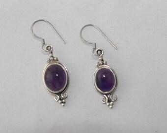 Amethyst Earrings set in Sterling Silver