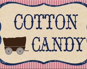 Cotton Candy sign for a hoe down or western party