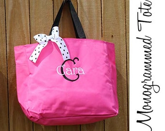 5 Personalized Bridesmaid Gift Tote Bags Monogrammed Tote, Bridesmaid Tote, Personalized Tote Wedding