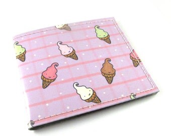 Owls Scream for Ice Cream Billfold Wallet by Missy Kulik for Tinymeat