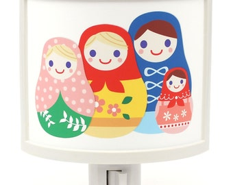 Happy Family Matryoshka Nesting Dolls Cute Nursery Bathroom hallway Bedroom GET IT nightlight Nite Lite