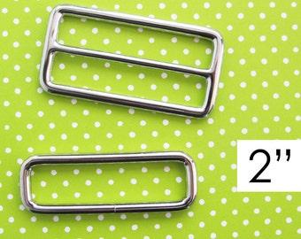 Strap Adjuster Hardware 2 Inch | Slider and rectangle ring adjustable strap hardware to make messenger cross body diaper bags.