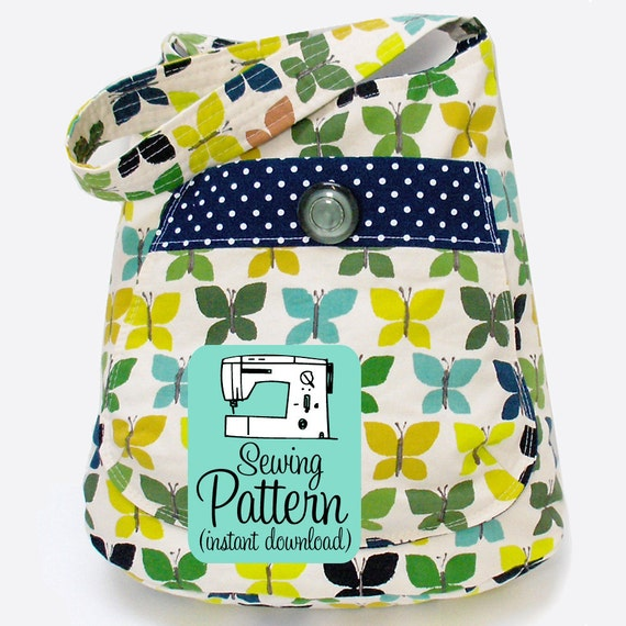 Bucket Bag PDF Sewing Pattern | Tote Bag Pattern | PDF Purse Pattern | Bag PDF Pattern Sewing