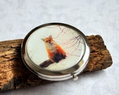 Little Red Fox Compact Mirror