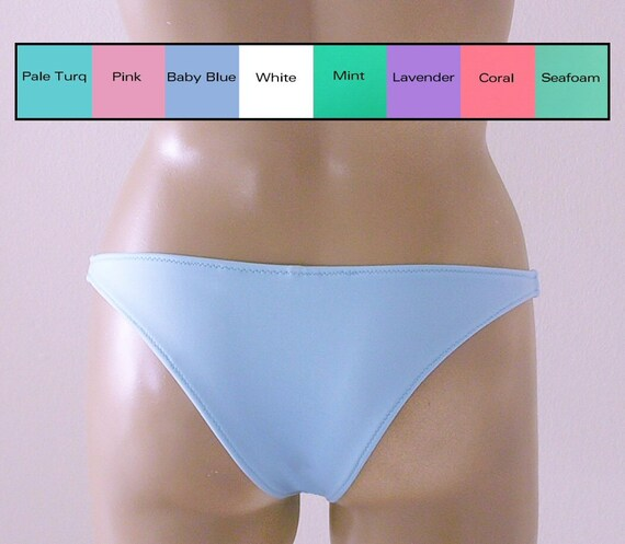 Brazilian Bikini Bottom in White, Pink, Baby Blue, Seafoam, Mint Green, Lavender, Coral, Turquoise in S-M-L-XL