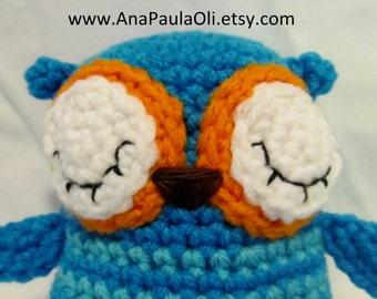 Sleepy Amigurumi Owl Plushie