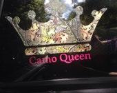 CAMO QUEEN Vinyl Decal....Camo Crown
