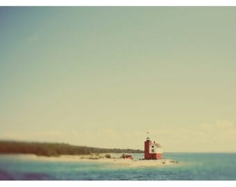Landscape Photograph - Michigan Art - Mackinac Island - Round Island #2 - Fine Art Photograph - Island Art - Lighthouse Art - Pure Michigan