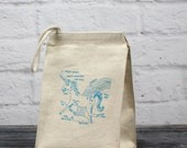 Magical Unicorn lunchbag, unicorn diagram, eco-friendly recycled cotton lunch bag, healthy habits, gifts for kids, lunch box, lunch sack