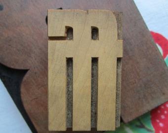 Letterpress Wood Type Printers Block ffi Ligature