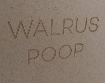 SALE Greeting Card: Walrus Poop. Funny Greeting Card. Funny Cards for Boyfriend. Funny cards for Husband.
