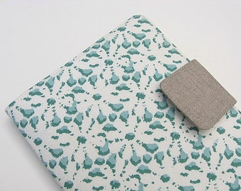 Nook Simple Touch Cover Samsung Nook Glowlight iPad Mini Kindle Fire Kindle Voyage Kobo Cover Case Looks Like Eyelet Lace Aqua White eReader