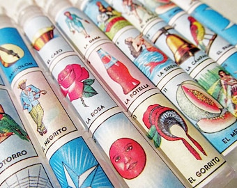 Mexican Loteria Wedding Favors Bubble Wands - Set of 15 - Destination Welcome Bags Birthday Favor