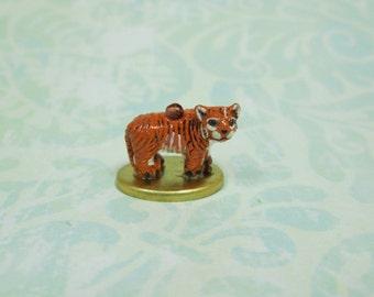 Dollhouse Miniature Ceramic Tiger Figurine