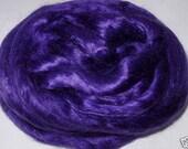 Mulberry silk, silk roving, silk fiber, deep purple silk, dolls hair, silk hair, felting fiber, spinning fiber, purple silk, 20g, 0.7oz