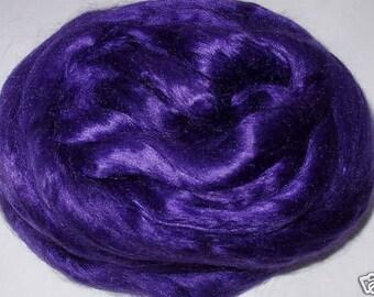 Mulberry silk, silk roving, silk fiber, dolls hair, silk hair, felting fiber, spinning fiber, purple silk, pure silk, 0.7oz, 20g, 100% silk