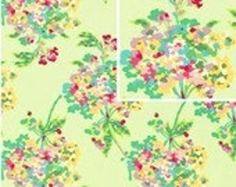 Amy Butler Fabric / LOVE Collection / Water Bouquet in Mint / 1 Yard Cotton Quilt Designer Fabric