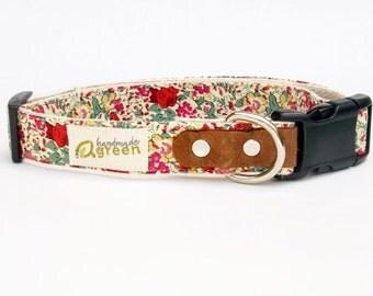 Liberty of London, Claire-Aude. Hemp Dog Collar. Small-Medium-Large.