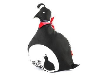 Black Mama Quail Plush Pillow